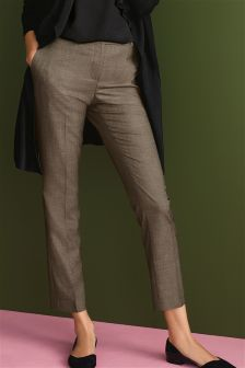 Sharkskin Taper Trousers