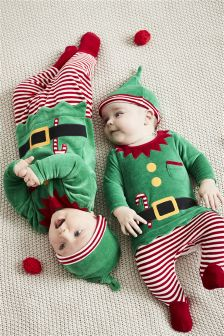 Elf Sleepsuit And Hat (0mths-2yrs)