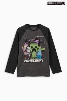 Футболка с длинным рукавом Minecraft (4-14 лет)
