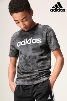 adidas Little Kids Linear Logo Tee