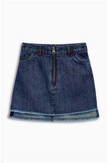 Denim Step Hem Skirt (3-16yrs)