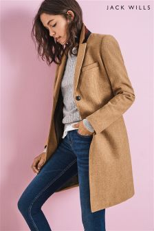 Jack Wills Camel Overcoat