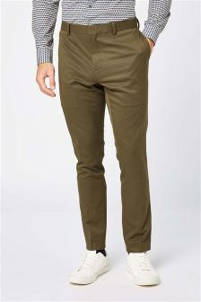 Stretch Twill Skinny Fit Suit: Trousers
