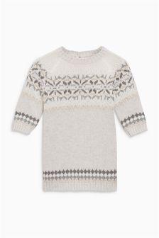 Fairisle Pattern Knit Dress (0mths-2yrs)