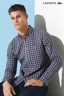 Lacoste® Navy/Red Check Shirt