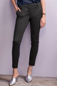 Herringbone Machine Washable Skinny Trousers