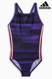 adidas Printed 3 Stripe Swimsuit