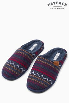 Fat Face Navy Freddie Fairisle Mule