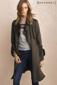 Warehouse Khaki Soft Duster Coat