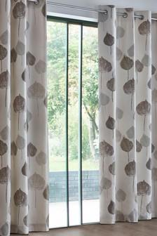 Tranquil Leaf Studio* Eyelet Curtains