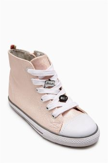 Badge High Top Trainers (Older Girls)