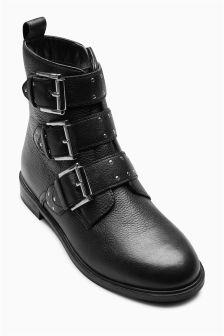 Stud Buckle Boots (Older Girls)