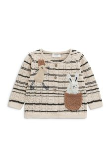 兔子挑窿开衫 (3个月-6岁)