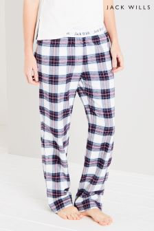 Jack Wills Plum Check Flannel Pant