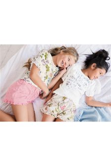 Slogan Short Pyjamas Two Pack (3-16yrs)