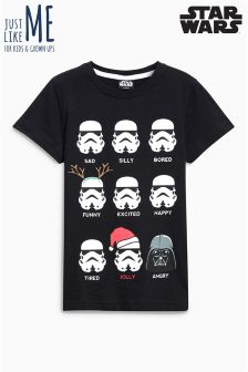 Star Wars™ Xmas Faces T-Shirt (3-14yrs)