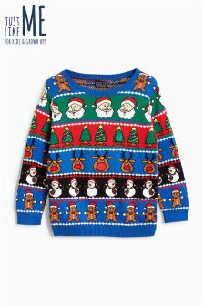 Boys Wrapping Paper Jumper (3-16 лет)