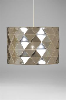 Ceiling lights silver lamp shades lampshades ceilinglights next qatar easy fit hologram shade mozeypictures Gallery