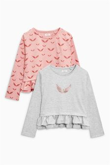Angel Wings Tops Two Pack (3-16yrs)