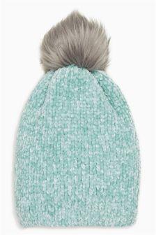 Chenille Pom Hat