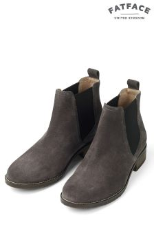 Fat Face Grey Newham Chelsea Boots