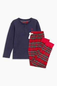 Leggings del pigiama in tartan (5-16 anni)