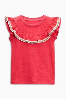 荷叶边T恤 (3个月-6岁)