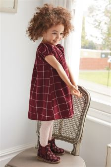 Grid Dress And Tights Set (3mths-6yrs)
