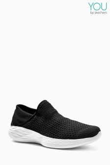 Skechers® Black And White You Gore Slip-On