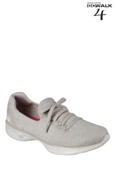 Skechers® GO Walk 4 Taupe Slip On With Lace Detail