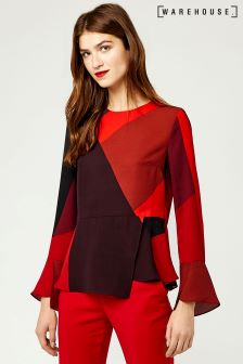 Warehouse Red/Pink Cutout Block Top