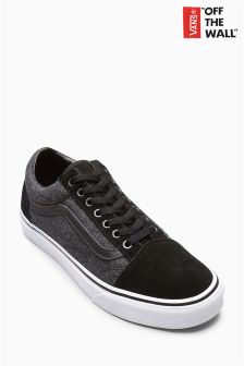 Vans Black Suede Suiting Old Skool