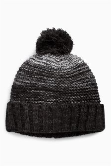 Textured Twist Bobble Hat