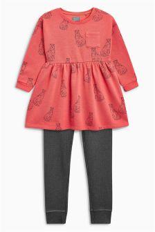连衣裙和打底裤套装 (3个月-6岁)