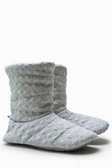 Quilted Boot Slippers