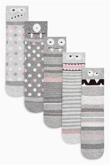 Monster Ankle Socks Five Pack