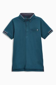 Ribbed Poloshirt (3-16yrs)