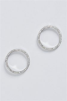 Sparkle Open Circle Hoops