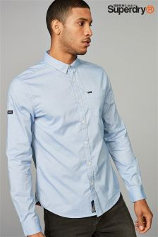 Superdry Light Blue Long Sleeve Oxford Shirt