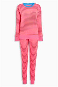 Cotton Stripe Jersey Pyjamas