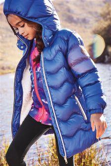 Удлиненная дутая куртка в спортивном стиле (3-16 лет)