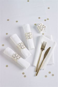 4 Pack Sequin Band Napkins