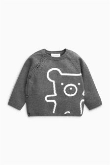 Bear Knitted Jumper (0mths-2yrs)