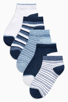 Stripe Trainer Socks Five Pack (Younger Boys)