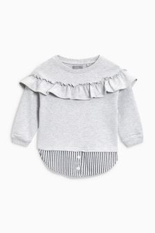 Shirt Layer Crew Neck Top (3mths-6yrs)