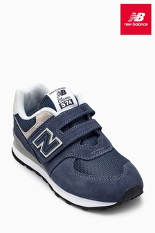 New Balance Navy 574 Velcro