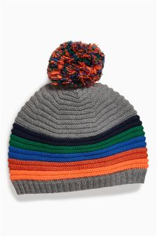 Stripe Knit Hat (0mths-2yrs)