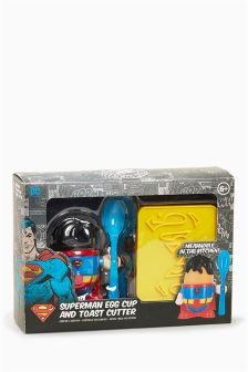 Superman® Egg Cup And Toast Cutter Set