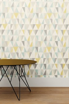 Paste The Wall Textured Geo Wallpaper