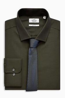 Komplet: dopasowana koszula z krawatem